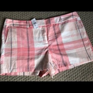 Pink Plaid Shorts